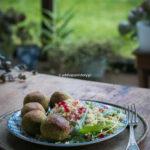 Klasyczne wegańskie falafele.